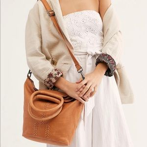 *NWT* Free People Leah Leather Tote
